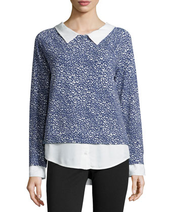 Keala Printed Layered Sweater