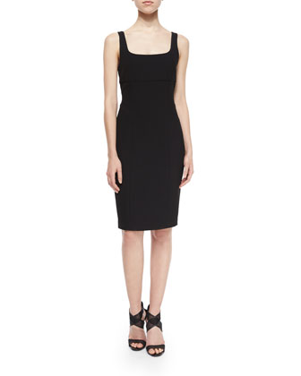 Myla Sleeveless Ponte Dress, Black
