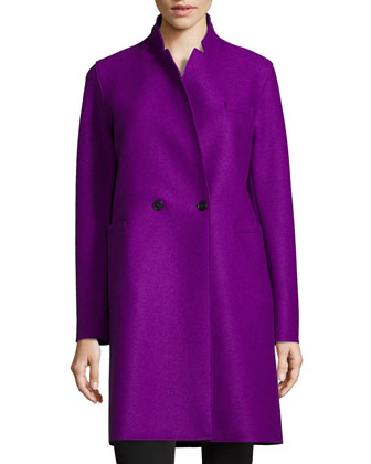 Double-Faced Two-Button Wool Coat