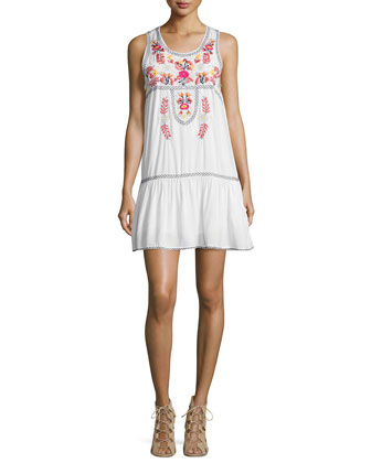 I Heart Babydoll Embroidered Dress, Ivory