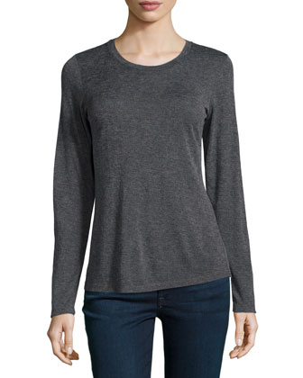 Long-Sleeve Knit Shell