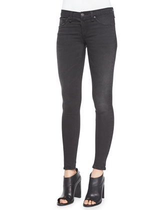 Charley Printed Crop Top & Low-Rise Denim Leggings