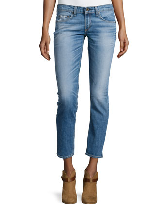 Tomboy Slim-Leg Cropped Jeans, West Village