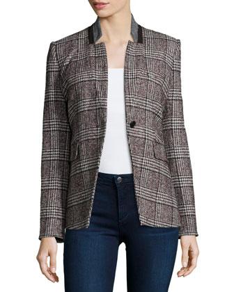 Stand-Collar Cutaway Jacket
