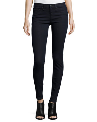 High-Waist Skinny-Leg Jeans, Indigo
