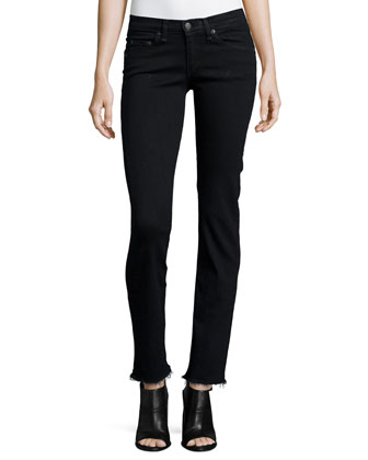 Low-Rise Straight-Leg Jeans, Black Coal
