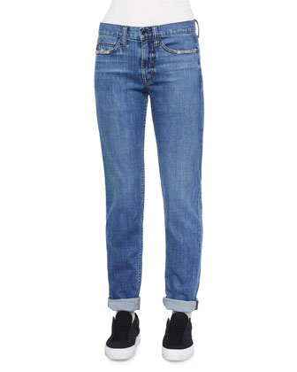 Lightly Distressed Relaxed Jeans