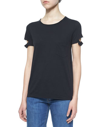 Split-Sleeve Pocket Tee