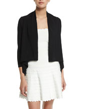 Loose-Fit Bracelet-Sleeve Shrug, Black