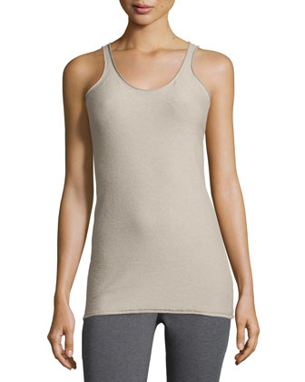 Scoop-Neck Tank Top, Putty
