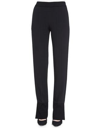 Stretch-Knit Combo Pants