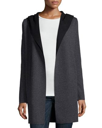 Hooded Wool Cardigan