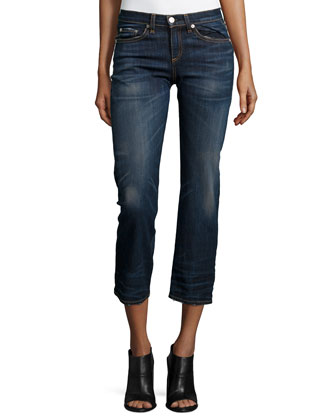 Cropped Straight-Leg Jeans, Nord