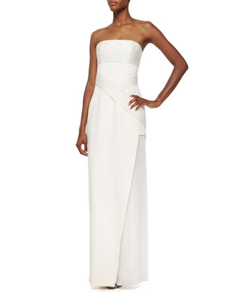 Strapless Wrap Gown, Ivoire