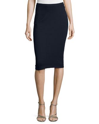 High-Waist Pencil Skirt, Midnight