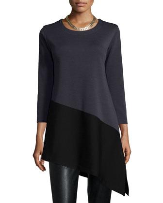 Colorblock Angled Tunic, Women's