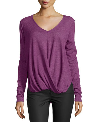 Verlinn V-Neck Blouson Top, Current