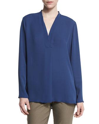 Majestic Matte Long-Sleeve Shirt, Petite
