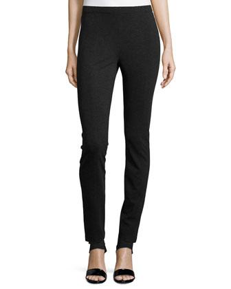 Skinny-Fit Legging Body Pants, Charcoal