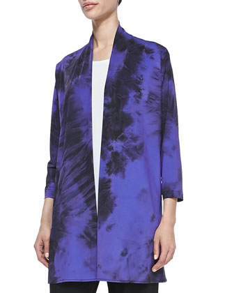 Double-Face Tie-Dye Cardigan, Women's