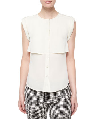 Placid Layered Chiffon Blouse, Ivory