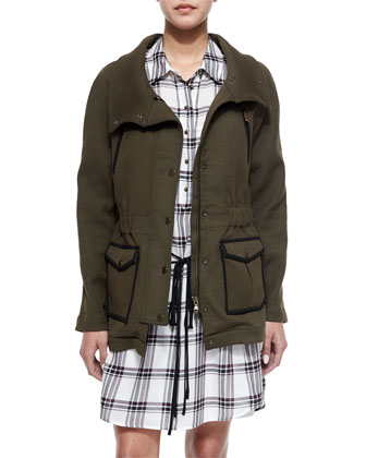 Army Stretch Cotton Zip Jacket