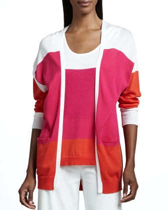 Easy Open Colorblock Cardigan