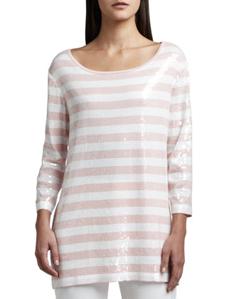 Sequined Striped Tunic, Classic