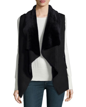 Double-Sided Sherpa Fur Vest