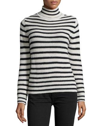 Seely Striped Sweater, Ecru/Black