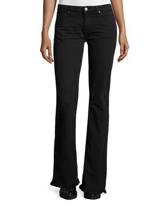 Freddy Flare Denim Jeans, Black Stone