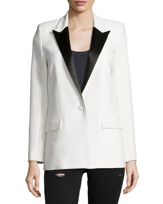 Badler Two-Tone Tuxedo Jacket, Sais Ribbed Knit Tank & Jarod Distressed ...