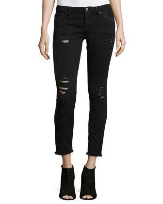 Jarod Distressed Denim Jeans, Black