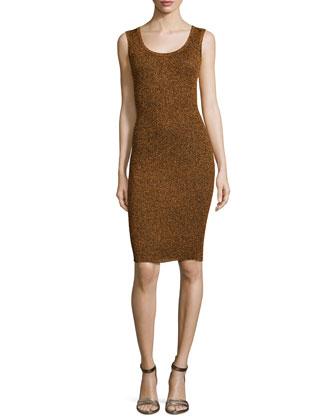 Disco Rib Tank Dress, Copper