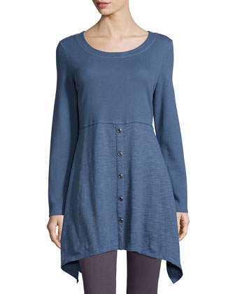 Empire Waist Hanky-Hem Tunic