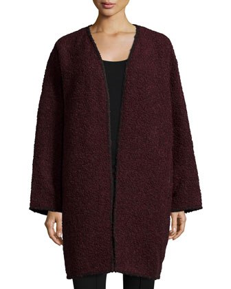 Lorraine Oversized Open-Front Coat, Date