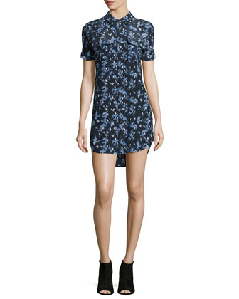 Signature Slim Short-Sleeve Shirtdress