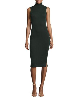 Sleeveless Cashmere Turtleneck Dress
