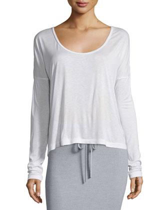 Hooded Wool Zip Jacket, Long-Sleeve Jersey Tee & Ribbed Drawstring Maxi ...