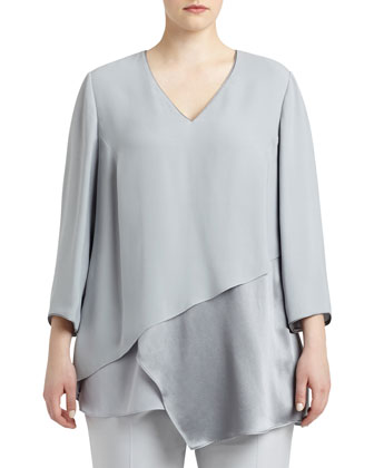 Ellie Silk Layered Combo Blouse, Women's