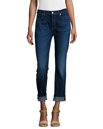Relaxed Skinny Cropped Jeans, Slim Illusion Ric