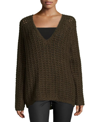 Jameson Slouchy Sweater, Army
