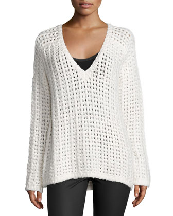 Jameson Slouchy Sweater, Bright White