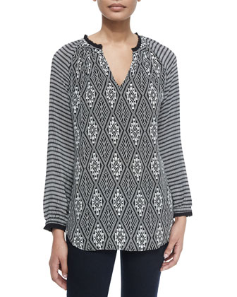 Lynn Printed Silk Tunic