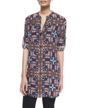 Lisa Printed Tunic/Dress, Tribal, Women's