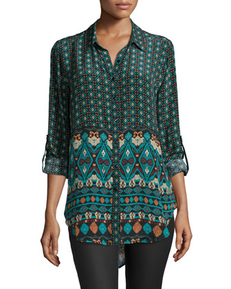 Evelyn Printed High-Low Tunic, Women's