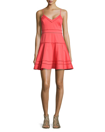 Gunther Strappy Fit-and-Flare Dress