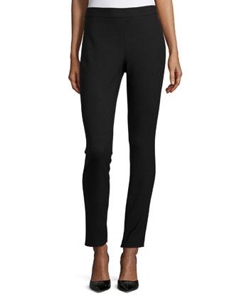 Talluva Faded Straight-Leg Pants, Black