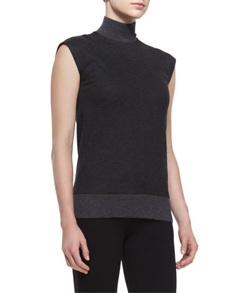 Aletta Idol Sleeveless Top, Dark Charcoal
