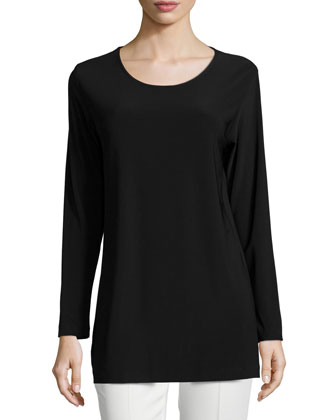 Easy Long-Sleeve Jersey Tunic, Women's
